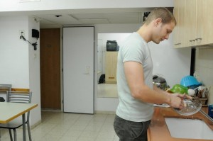 kitchen in Mizrach Hadash for singles
