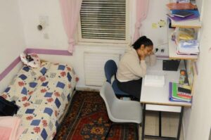student studing in rifkin room